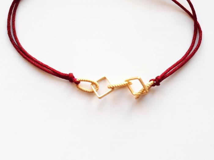Bracelet Maillon Bordeaux